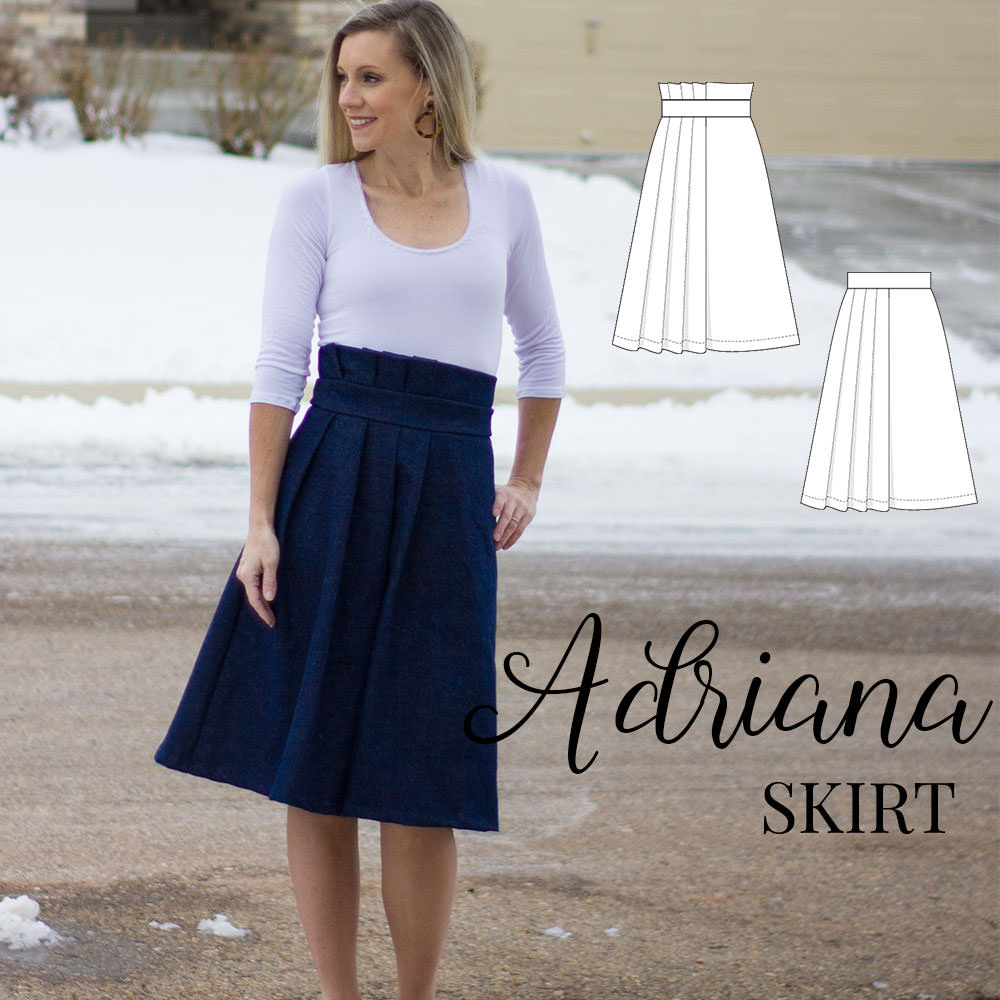 Adriana Skirt - PDF sewing pattern